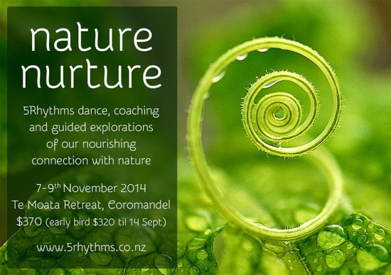 Nature Nurture Retreat, 5Rhythms Dance and Big Strectch Coaching